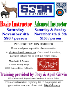 Indiana S3DA Training Flyer